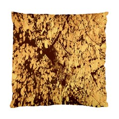 Abstract Brachiate Structure Yellow And Black Dendritic Pattern Standard Cushion Case (one Side)