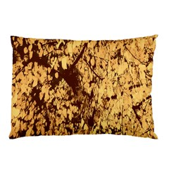 Abstract Brachiate Structure Yellow And Black Dendritic Pattern Pillow Case