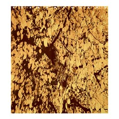 Abstract Brachiate Structure Yellow And Black Dendritic Pattern Shower Curtain 66  X 72  (large)