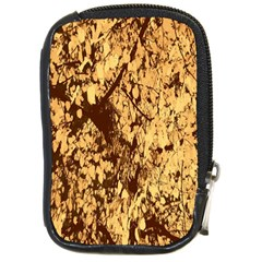Abstract Brachiate Structure Yellow And Black Dendritic Pattern Compact Camera Cases