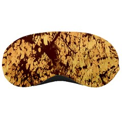 Abstract Brachiate Structure Yellow And Black Dendritic Pattern Sleeping Masks