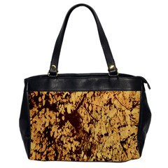 Abstract Brachiate Structure Yellow And Black Dendritic Pattern Office Handbags
