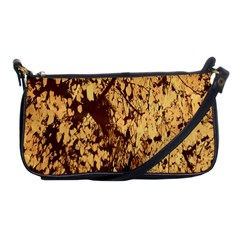 Abstract Brachiate Structure Yellow And Black Dendritic Pattern Shoulder Clutch Bags