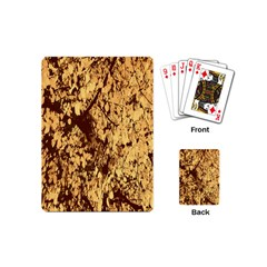 Abstract Brachiate Structure Yellow And Black Dendritic Pattern Playing Cards (mini)