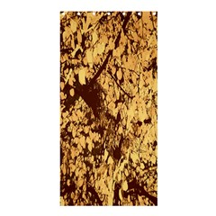 Abstract Brachiate Structure Yellow And Black Dendritic Pattern Shower Curtain 36  X 72  (stall)