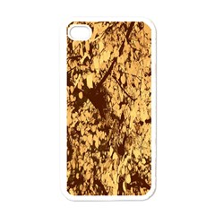 Abstract Brachiate Structure Yellow And Black Dendritic Pattern Apple iPhone 4 Case (White)
