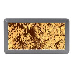 Abstract Brachiate Structure Yellow And Black Dendritic Pattern Memory Card Reader (Mini)