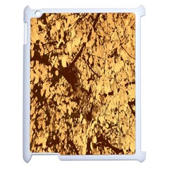 Abstract Brachiate Structure Yellow And Black Dendritic Pattern Apple iPad 2 Case (White)
