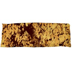 Abstract Brachiate Structure Yellow And Black Dendritic Pattern Body Pillow Case (Dakimakura)
