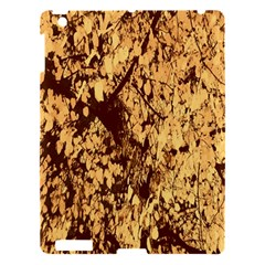 Abstract Brachiate Structure Yellow And Black Dendritic Pattern Apple Ipad 3/4 Hardshell Case