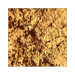 Abstract Brachiate Structure Yellow And Black Dendritic Pattern Acrylic Tangram Puzzle (6  X 6 )