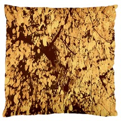 Abstract Brachiate Structure Yellow And Black Dendritic Pattern Large Cushion Case (one Side)