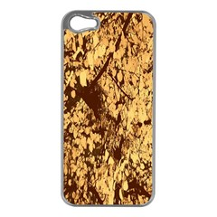 Abstract Brachiate Structure Yellow And Black Dendritic Pattern Apple Iphone 5 Case (silver)