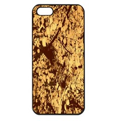 Abstract Brachiate Structure Yellow And Black Dendritic Pattern Apple iPhone 5 Seamless Case (Black)