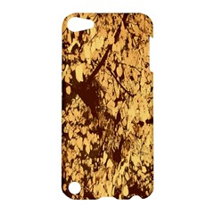 Abstract Brachiate Structure Yellow And Black Dendritic Pattern Apple iPod Touch 5 Hardshell Case