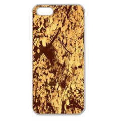 Abstract Brachiate Structure Yellow And Black Dendritic Pattern Apple Seamless Iphone 5 Case (clear)