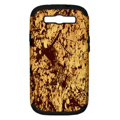 Abstract Brachiate Structure Yellow And Black Dendritic Pattern Samsung Galaxy S III Hardshell Case (PC+Silicone)
