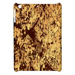 Abstract Brachiate Structure Yellow And Black Dendritic Pattern Apple iPad Mini Hardshell Case
