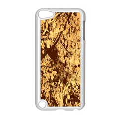 Abstract Brachiate Structure Yellow And Black Dendritic Pattern Apple Ipod Touch 5 Case (white)