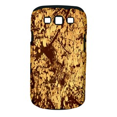 Abstract Brachiate Structure Yellow And Black Dendritic Pattern Samsung Galaxy S Iii Classic Hardshell Case (pc+silicone)