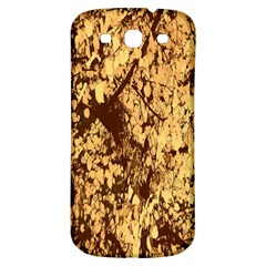 Abstract Brachiate Structure Yellow And Black Dendritic Pattern Samsung Galaxy S3 S III Classic Hardshell Back Case