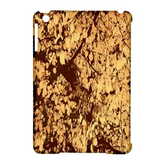 Abstract Brachiate Structure Yellow And Black Dendritic Pattern Apple iPad Mini Hardshell Case (Compatible with Smart Cover)