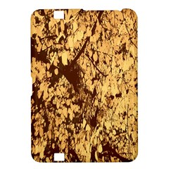 Abstract Brachiate Structure Yellow And Black Dendritic Pattern Kindle Fire Hd 8 9
