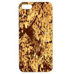 Abstract Brachiate Structure Yellow And Black Dendritic Pattern Apple Iphone 5 Hardshell Case With Stand