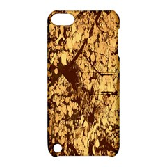 Abstract Brachiate Structure Yellow And Black Dendritic Pattern Apple iPod Touch 5 Hardshell Case with Stand