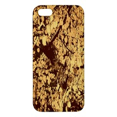 Abstract Brachiate Structure Yellow And Black Dendritic Pattern Apple iPhone 5 Premium Hardshell Case