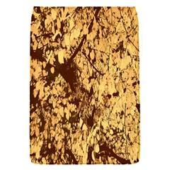 Abstract Brachiate Structure Yellow And Black Dendritic Pattern Flap Covers (S)