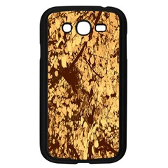 Abstract Brachiate Structure Yellow And Black Dendritic Pattern Samsung Galaxy Grand Duos I9082 Case (black)