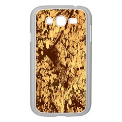 Abstract Brachiate Structure Yellow And Black Dendritic Pattern Samsung Galaxy Grand Duos I9082 Case (white)