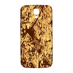 Abstract Brachiate Structure Yellow And Black Dendritic Pattern Samsung Galaxy S4 I9500/I9505  Hardshell Back Case