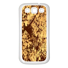 Abstract Brachiate Structure Yellow And Black Dendritic Pattern Samsung Galaxy S3 Back Case (white)