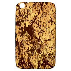 Abstract Brachiate Structure Yellow And Black Dendritic Pattern Samsung Galaxy Tab 3 (8 ) T3100 Hardshell Case