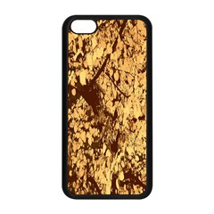 Abstract Brachiate Structure Yellow And Black Dendritic Pattern Apple iPhone 5C Seamless Case (Black)