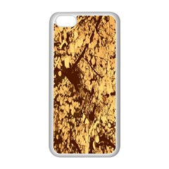 Abstract Brachiate Structure Yellow And Black Dendritic Pattern Apple Iphone 5c Seamless Case (white)