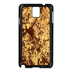 Abstract Brachiate Structure Yellow And Black Dendritic Pattern Samsung Galaxy Note 3 N9005 Case (black)