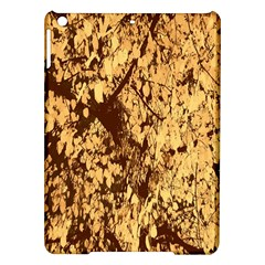 Abstract Brachiate Structure Yellow And Black Dendritic Pattern iPad Air Hardshell Cases
