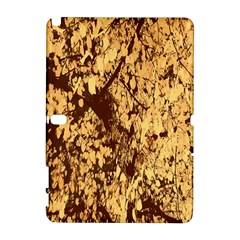 Abstract Brachiate Structure Yellow And Black Dendritic Pattern Galaxy Note 1