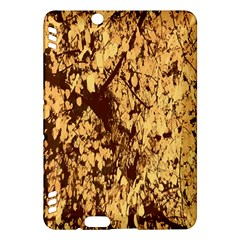 Abstract Brachiate Structure Yellow And Black Dendritic Pattern Kindle Fire Hdx Hardshell Case