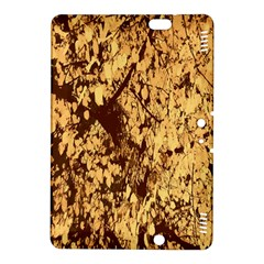 Abstract Brachiate Structure Yellow And Black Dendritic Pattern Kindle Fire Hdx 8 9  Hardshell Case