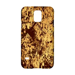 Abstract Brachiate Structure Yellow And Black Dendritic Pattern Samsung Galaxy S5 Hardshell Case