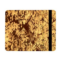 Abstract Brachiate Structure Yellow And Black Dendritic Pattern Samsung Galaxy Tab Pro 8 4  Flip Case