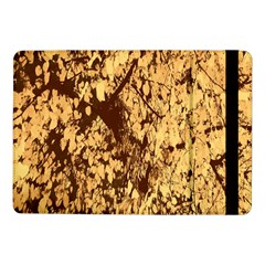 Abstract Brachiate Structure Yellow And Black Dendritic Pattern Samsung Galaxy Tab Pro 10.1  Flip Case