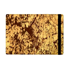 Abstract Brachiate Structure Yellow And Black Dendritic Pattern Ipad Mini 2 Flip Cases