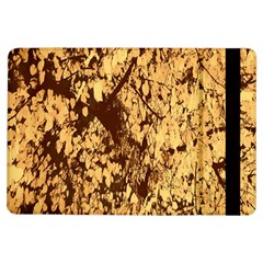 Abstract Brachiate Structure Yellow And Black Dendritic Pattern iPad Air Flip