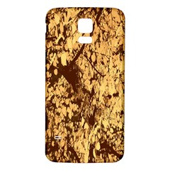 Abstract Brachiate Structure Yellow And Black Dendritic Pattern Samsung Galaxy S5 Back Case (White)