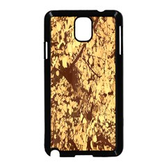 Abstract Brachiate Structure Yellow And Black Dendritic Pattern Samsung Galaxy Note 3 Neo Hardshell Case (Black)